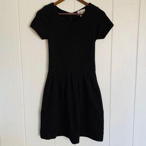 Ganni for Anthropologie Black Mini Dress A-Line